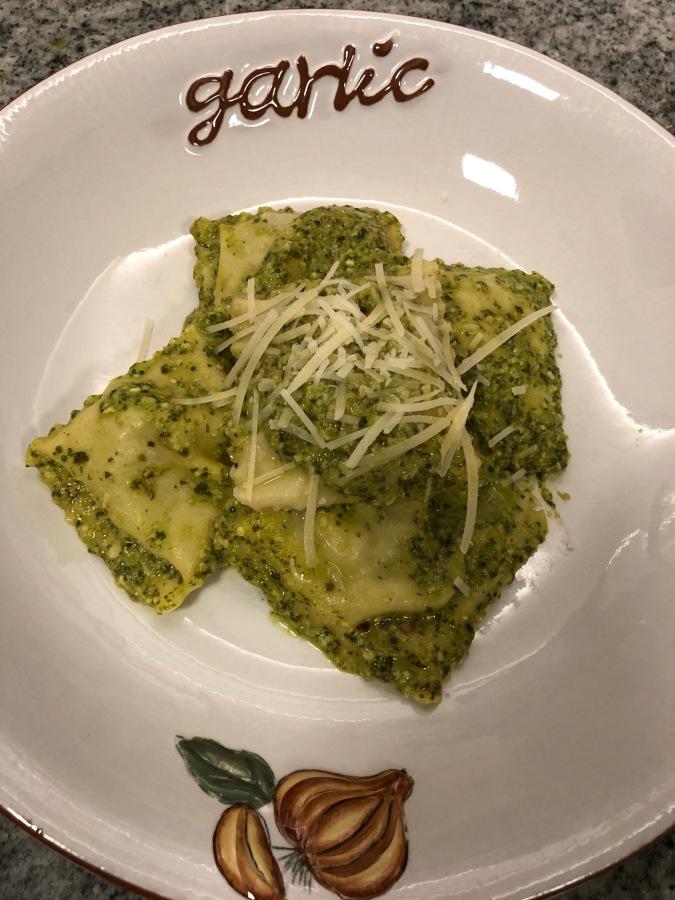 Chicken & Pancetta Ravioli's          w/Lemon ArugulaPesto